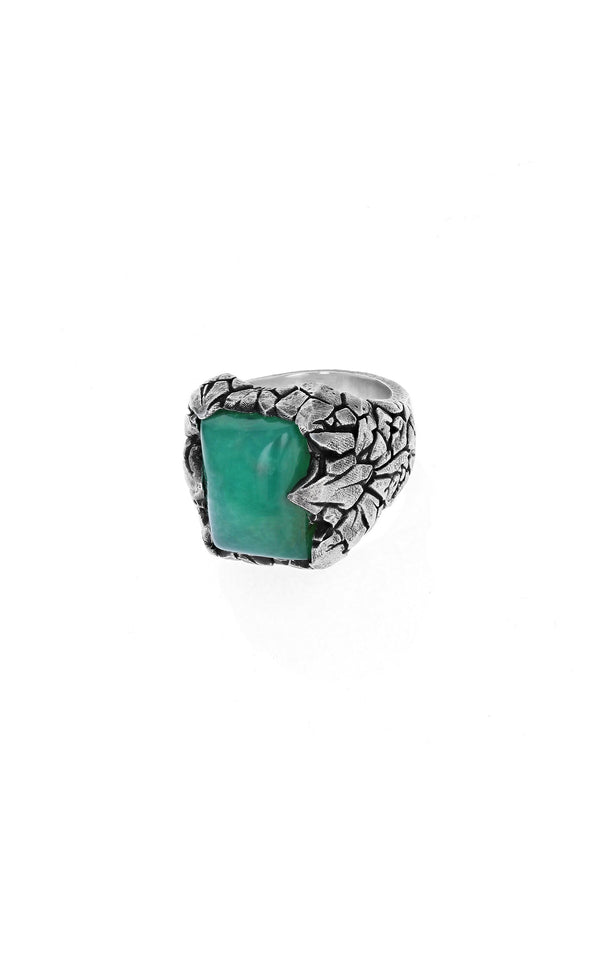 Chrysoprase Dragon Scale Ring