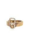 18K Gold Pop Top Ring with Pave Diamonds