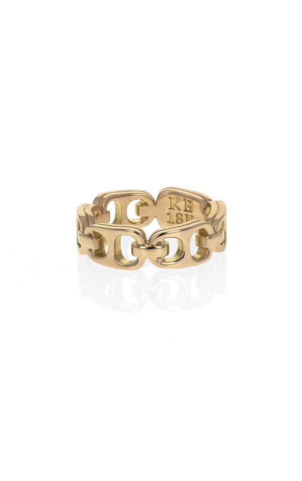 18K Gold Small Pop Top Infinity Band