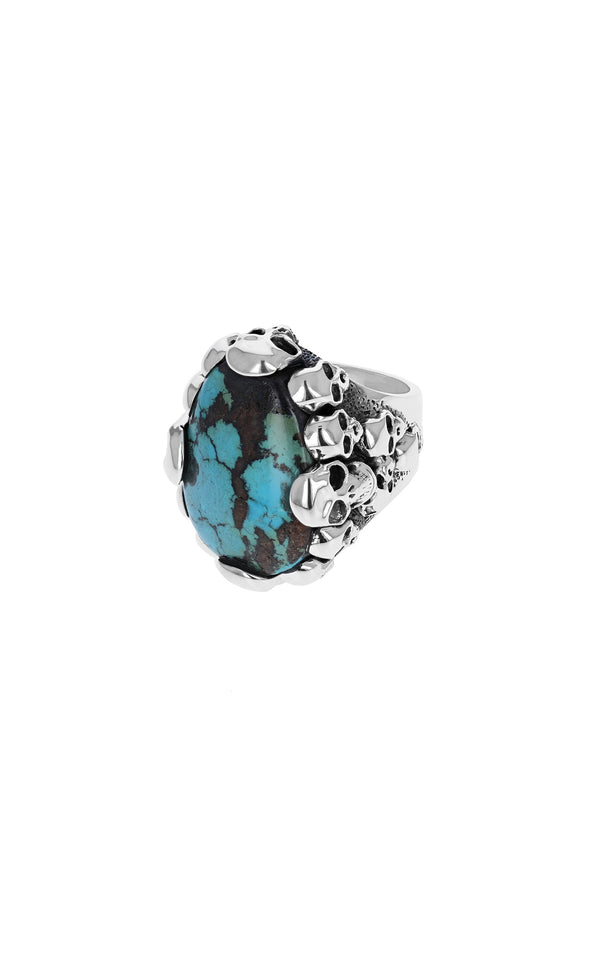 One-of-a-Kind Turquoise Skull Catacombs Ring
