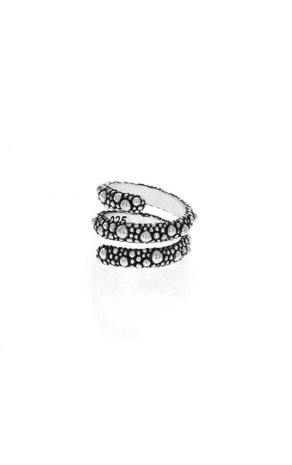 king baby womens stingray spiral ring