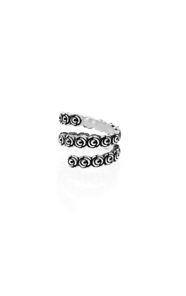 king baby rose spiral ring for women