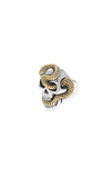 Large Skull Ring w/ Gold Alloy Snake