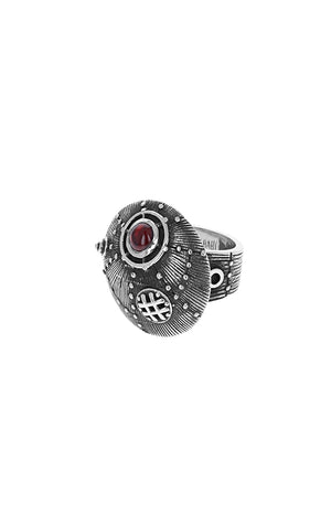 Submarine Ring w Ruby
