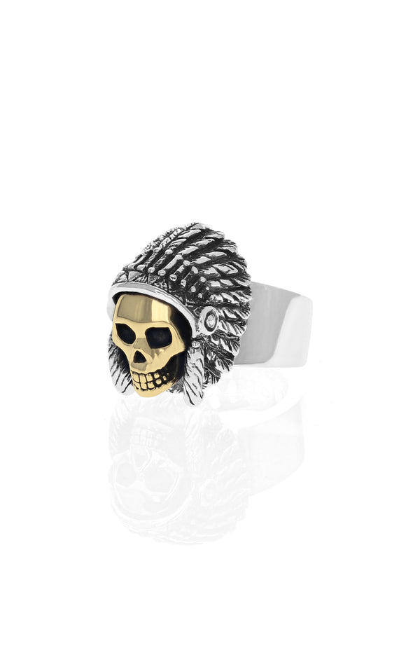 Limited Edition Skull With Headdress Ring