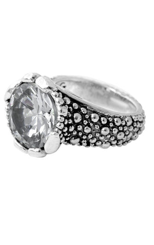 Stingray Texture Ring with 15mm CZ