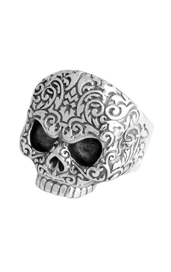 Baroque Skull Ring