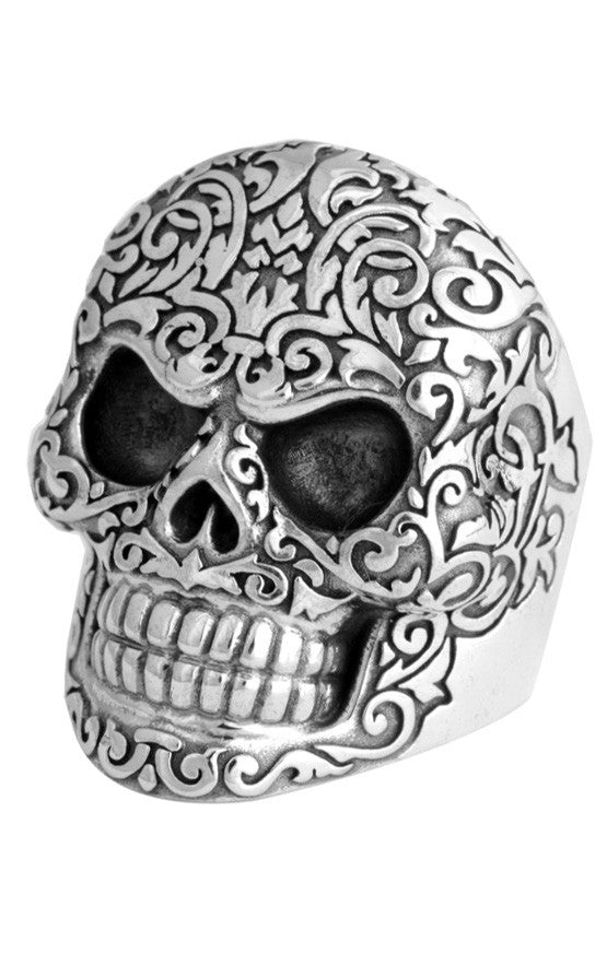 Full Baroque Skull Ring