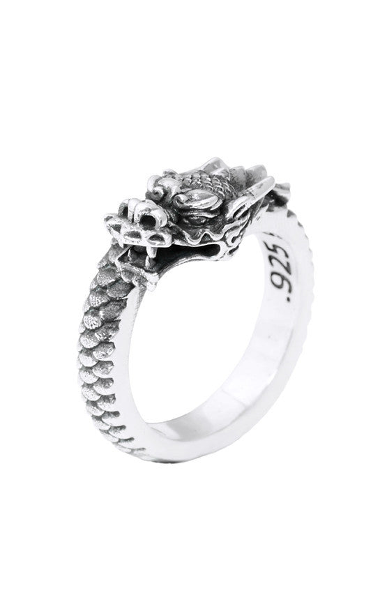 king baby dragon coil ring