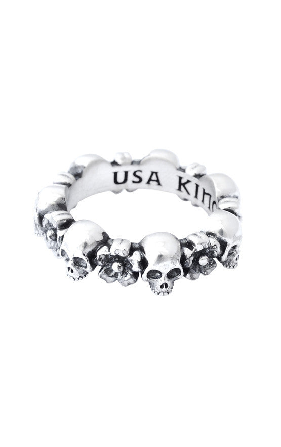 Skull and Sakura Infinity Ring