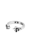 king baby mid ring with fleur de lis