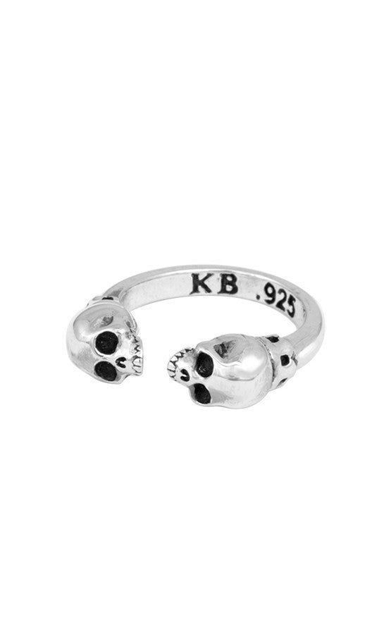 king baby open skull ring
