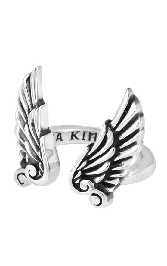 king baby open wing ring