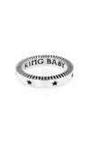 Coin Edge Stackable Ring with Engraved Stars