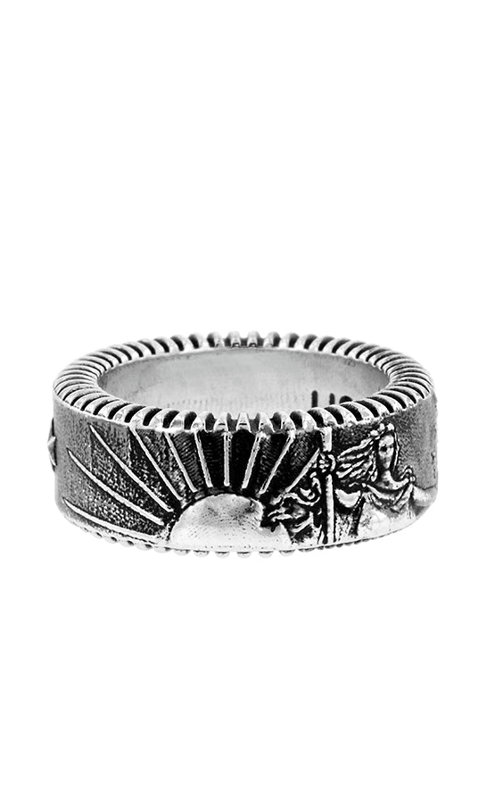 King Baby Liberty Coin Edge Ring
