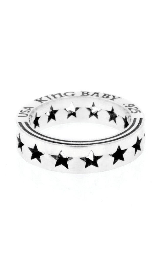 Pierced Star Stackable Ring