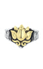 King Baby Two Tone Lotus Stone Ring