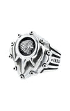 Indian Studded Motor Cover Ring with Headdress Logo