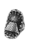 Eye of Providence Shield Ring