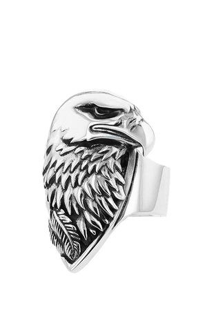 Large Eagle Profile Ring