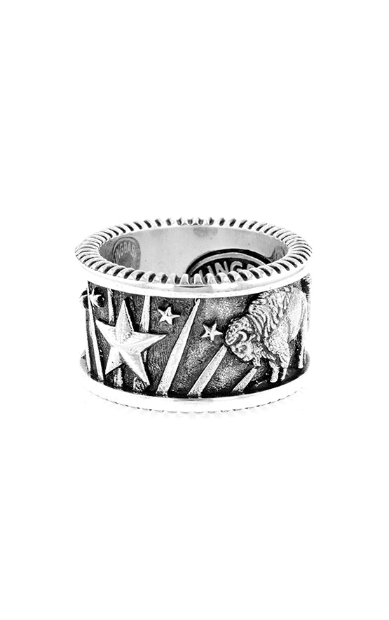 King Baby USA Ring with Chief and Buffalo