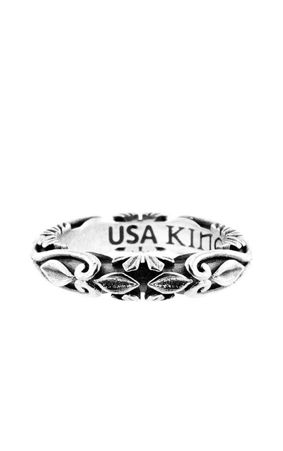 King Baby Fine Line Engraved Band