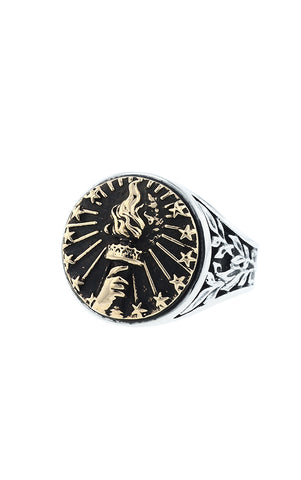 Torch Signet Ring