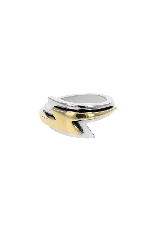 slumerican gold lightning bolt ring