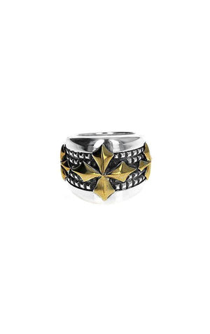 Textured MB Cross Ring