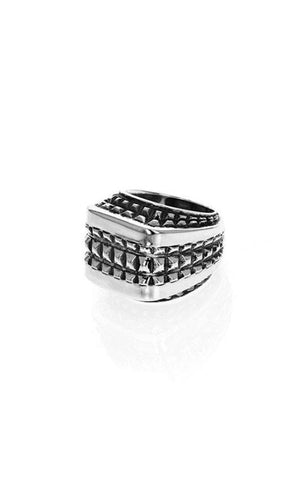 Squared-Off Texture Ring