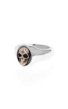 king baby small skull ring with gold alloy