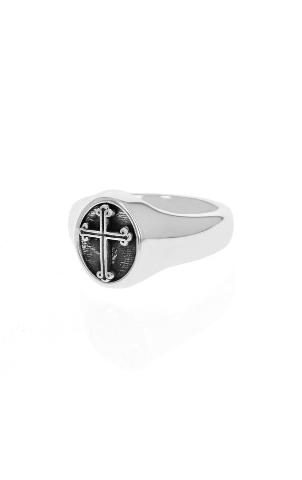 king baby traditional cross ring