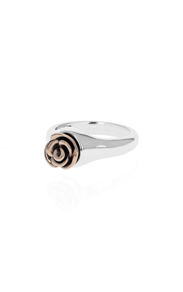king baby small rose ring with gold alloy
