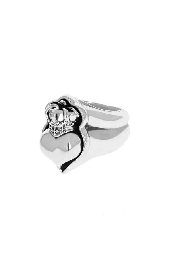 king baby new classic crowned heart ring