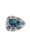 Egyptian Turquoise Belt Buckle with Stingray Texture