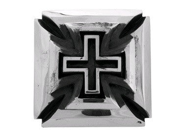 Silver Slash Cross Belt Buckle