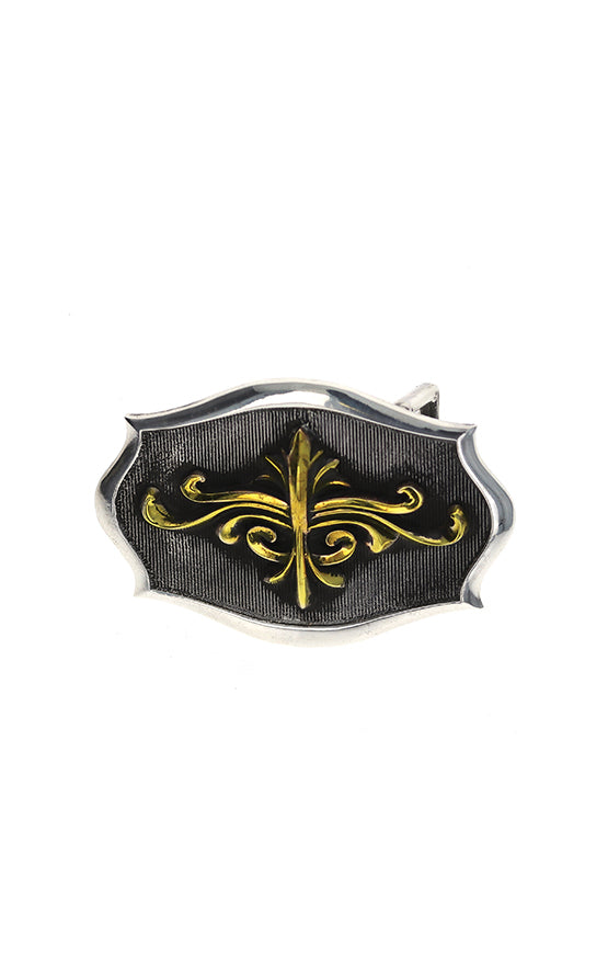 king baby scroll shield belt buckle