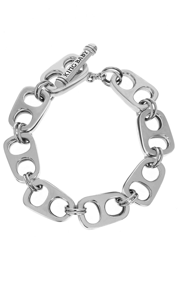 Large Double Layer Pop Top Bracelet with T-Bar