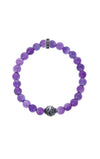 king baby womens amethyst bracelet with round texture bead