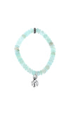 Chrysoprase Bracelet with Crowned Heart Charm