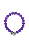 king baby amethyst bracelet with day of the dead skull