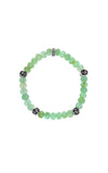 King Baby Chrysoprase Bracelet with 4 Silver Roses