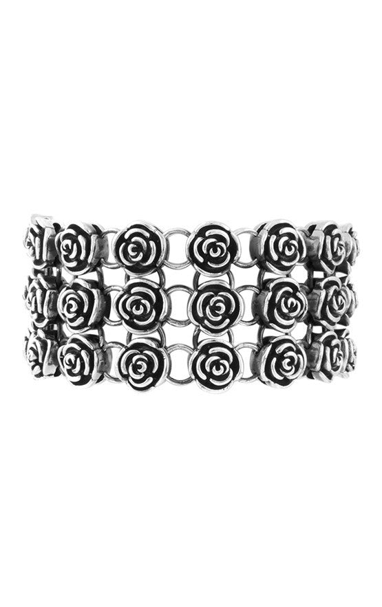 King Baby Rose Chain Mail Bracelet