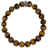 10mm Brown Tiger Eye Bead Bracelet with Logo Ring