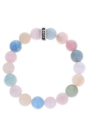 10mm Assorted Aquamarine Bracelet w/Logo Ring