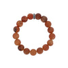 10mm Peach Druzy Agate Bracelet w/Logo Ring