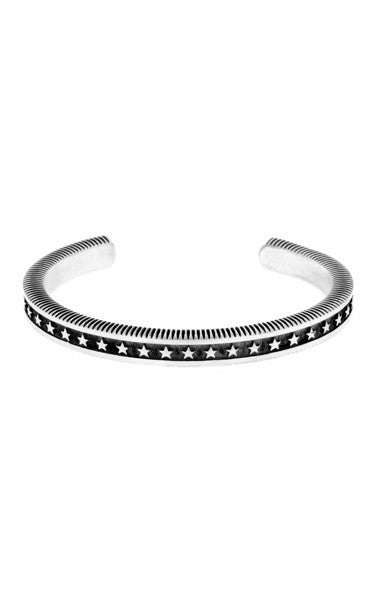 Coin Edge Cuff with Stars