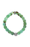 King Baby Chrysoprase Barrel Bracelet with Monkey Knot Bead