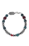 Ceramic, Crystal, and Hematite Bead Bracelet