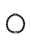 King Baby Matte Onyx Bracelet with Chrysoprase Rose